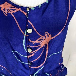 Sariah Tops - Sariah Silk Sleeveless Top Small